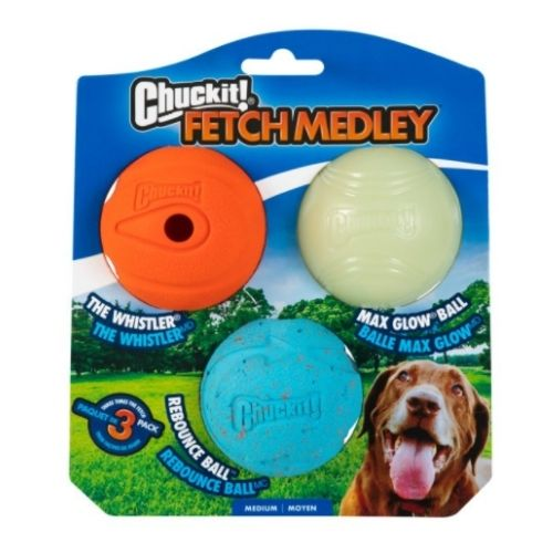 Chuckit! Fetch Medley 1 3pk 6.4cm