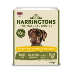 Harringtons Dog Food Trays Turkey and Potato 8 x 400gm