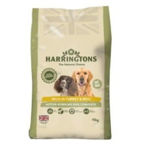 Harringtons Active Worker Turkey & Rice 15kg VAT FREE