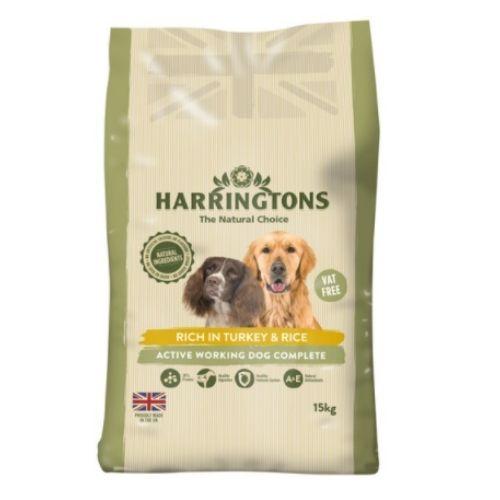 Harringtons Active Worker Turkey & Rice 15kg VAT FREE