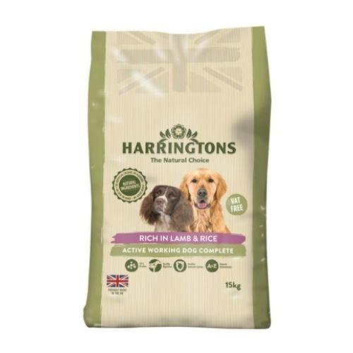 Harringtons Active Worker Lamb & Rice 15kg VAT FREE