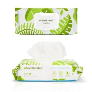 Earth Rated Compostable Pet Wipes Unscented 100pcs