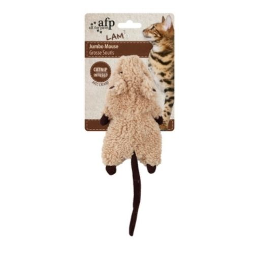 All for Paws LAMB Jumbo Mouse with Catnip