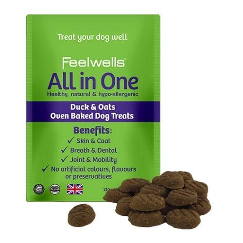 Feelwells All in One Treats Duck & Oats 130g