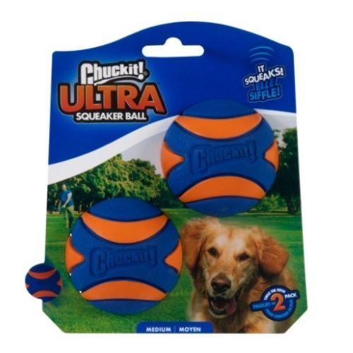 Chuckit! Ultra Squeaker Ball Medium 2pk 6.5cm