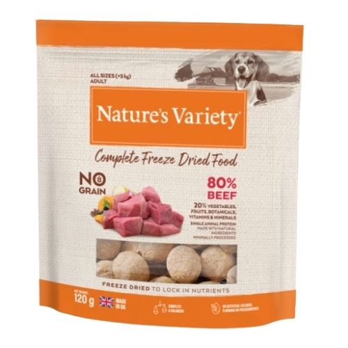 Natures Variety Complete Freeze Dried Beef 120g