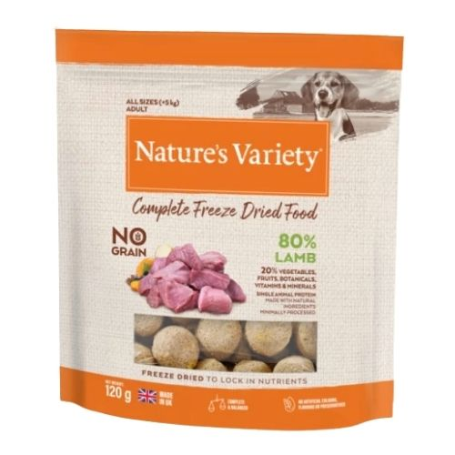 Natures Variety Complete Freeze Dried Lamb 120g