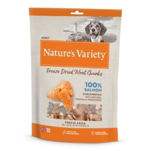 Natures Variety 100% Salmon Freeze Dried Fish Chunks 200g NEW PACKAGING