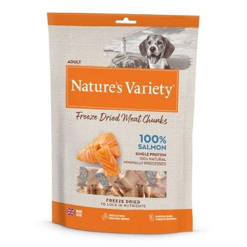 Natures Variety 100% Salmon Freeze Dried Fish Chunks 200g