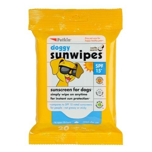 Petkin Doggy Sunwipes SPF 15 20pcs