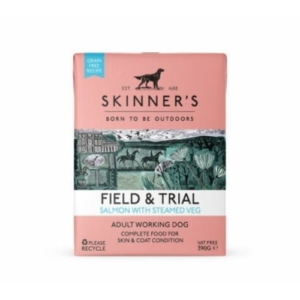 SKINNER'S Field & Trial Adult Salmon with Steamed Veg 18x390g