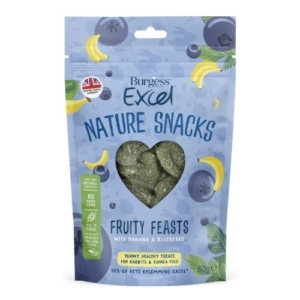 Burgess Excel Nature Snacks Fruity Feasts 60g