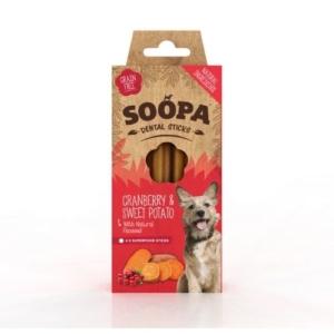 SOOPA Dental Sticks Cranberry & Sweet Potato 4pk