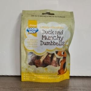 Good Boy Pawsley Duck & Munchy Dumbells 90g